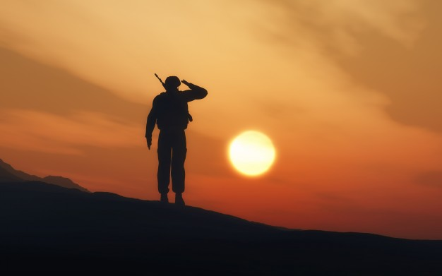 soldier-guarding