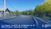 CJ Cluj a demarat lucrările de întreținere pe drumul județean 182E Chiuiești – Mănăstirea Cășiel